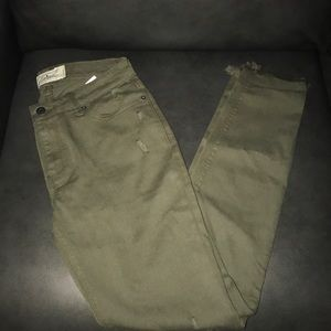 Lucky Brand olive green skinny jeans
